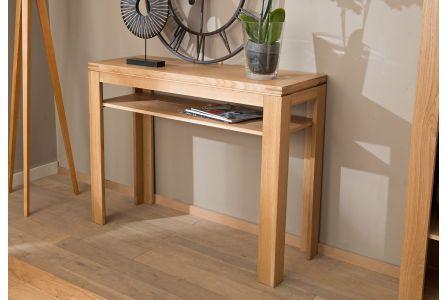 Console Et Table D Appoint En Chene Clair Hellin Chene Clair Console Bois Mobilier De Salon