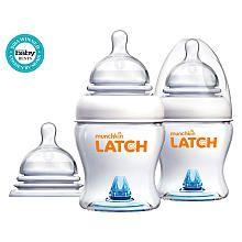 Munchkin LATCH 4 Ounce 2 Pack Bottle with Bonus Nipple