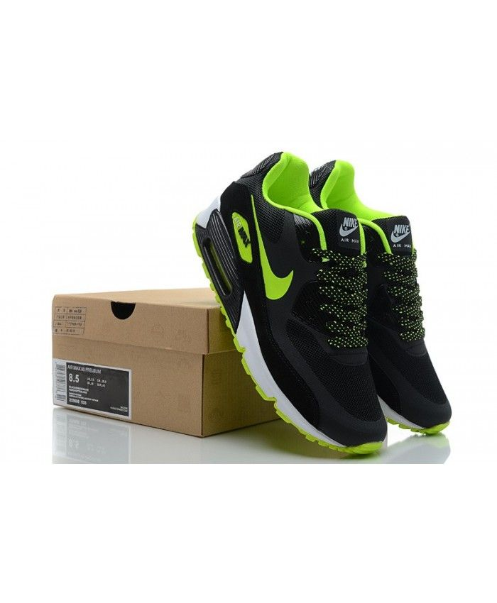 Nike Air Max Fluo 90 Premium Homme Volt Fluo Max Noir Chaussure Original d3fc07