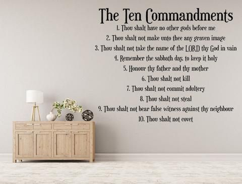 10 Commandments Christian Wall Decal Inspirational Wall Signs Scripture Wall Decal Christian Wall Decals Inspirational Wall Decals