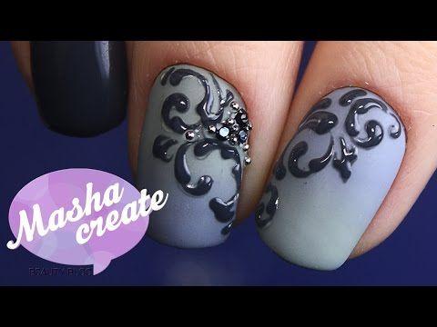 САМЫЕ ПРОСТЫЕ ВЕНЗЕЛЯ В МИРЕ :) Дизайн ногтей Дотсом на гель лаке. Легкий маникюр Вензеля на ногтях - YouTube