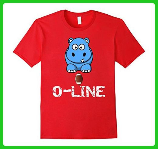 8745fce40 Mens Hippo football o-line offensive line t-shirt Large Red - Sports shirts  (*Amazon Partner-Link)