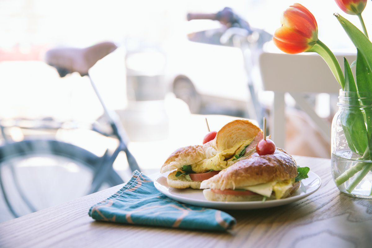 Image of Breakfast Croissant Sandwich Cafe. This free stock photo is ...