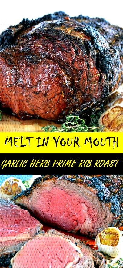 MELT IN YOUR MOUTH GARLIC HERB PRIME RIB ROAST - Easy Recipes#easy