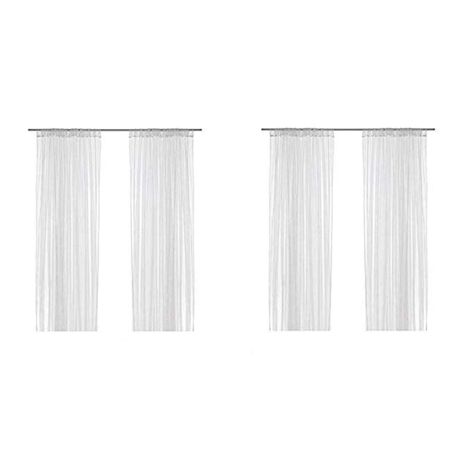 Amazon Com Ikea Lill Sheer Curtains 4 Panels 98 X 110 2 Curtain