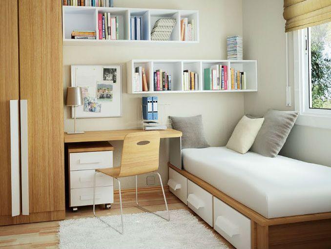 Pin de almedita clau en dormitorio pinterest for Decorar pisos muy pequenos