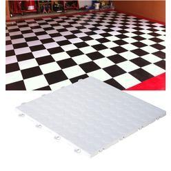 Modutile Interlocking Garage Floor Tiles 30 Pack Coin White Garage Floor Tiles Flooring Contemporary Rug
