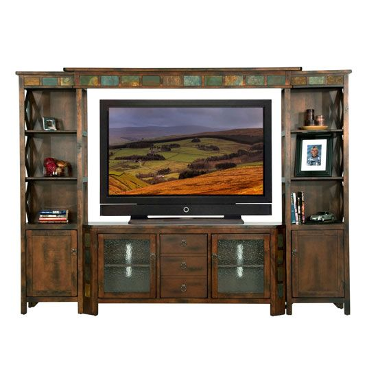 In Addition To Being Great Place Your Electronic Components And Accessories The Santa Fe Offers A Rustic Look For Room With Its Distressed