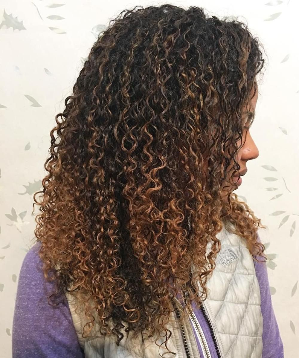 30 Picture Perfect Black Curly Hairstyles Dyed Natural Hair Light Brown Balayage Black Curly Hair
