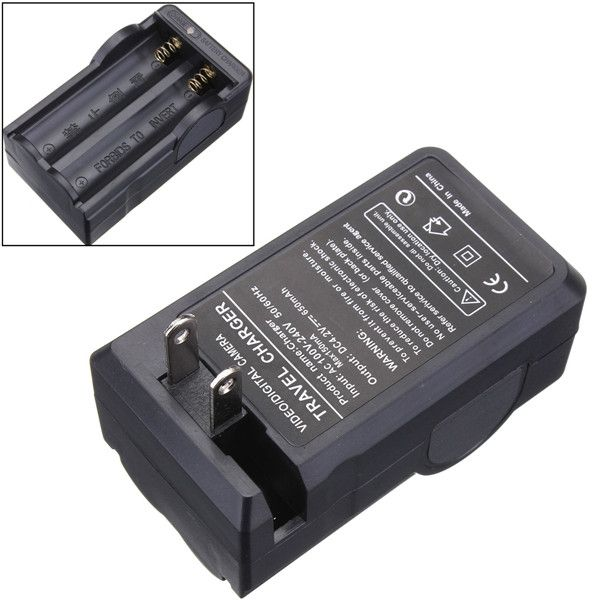 US Plug Flashlight Torch Charger Adapter For 18650 Rechargeable Li-ion Battery