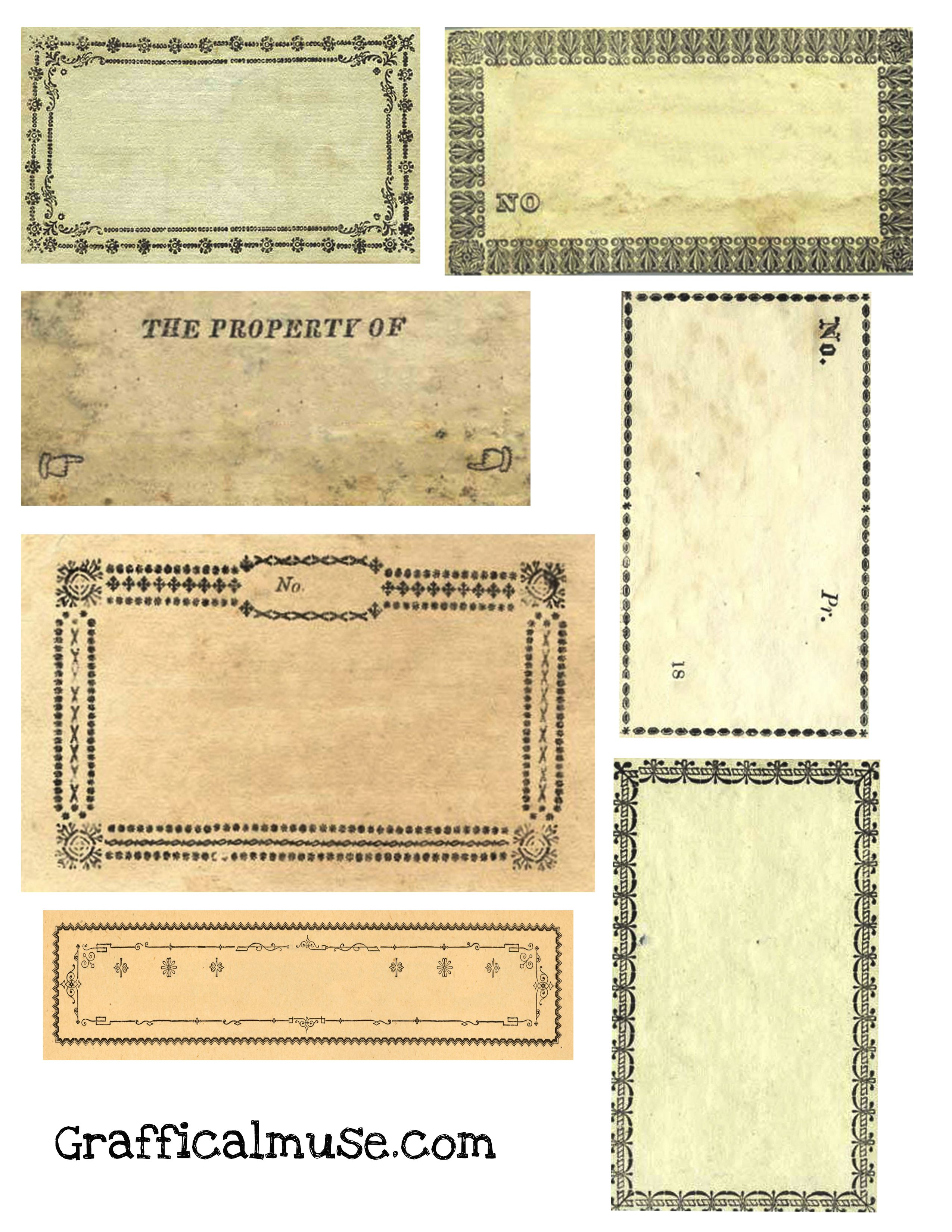 Free Vintage Labels From Victorian Era Collage Sheet The Graffical Muse Vintage Labels Printables Free Vintage Labels Printables Free Vintage Printables