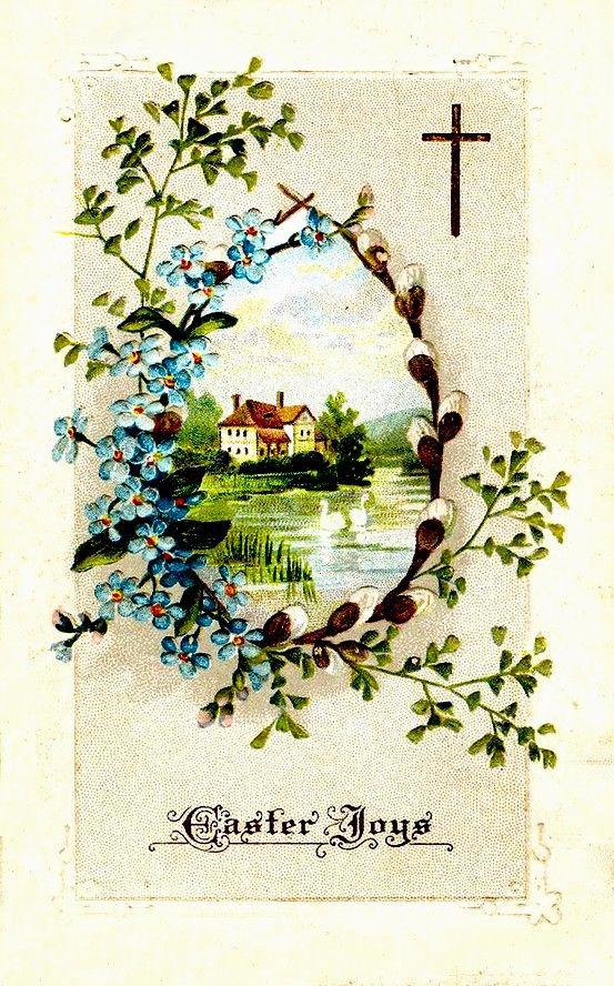 Pin by Татьяна Виноградова on ДОМИКИ Vintage easter, Easter