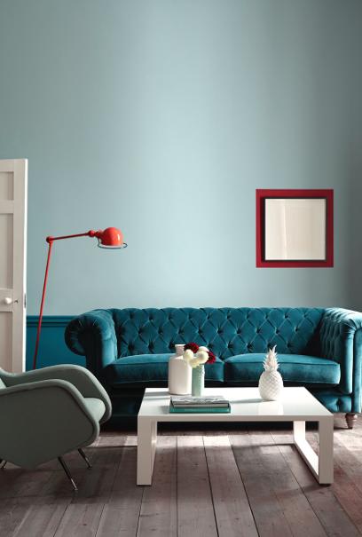 peinture salon 30 couleurs tendance pour repeindre le salon - Tendance Couleur Peinture Salon