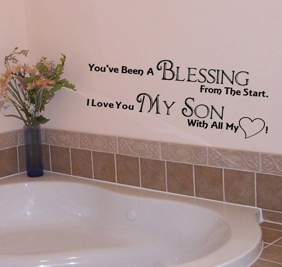 My Son Wall Decal You Re A Blessing Vinyl Wall Art Heart Wall Decals Vinyl Wall Art A Blessing