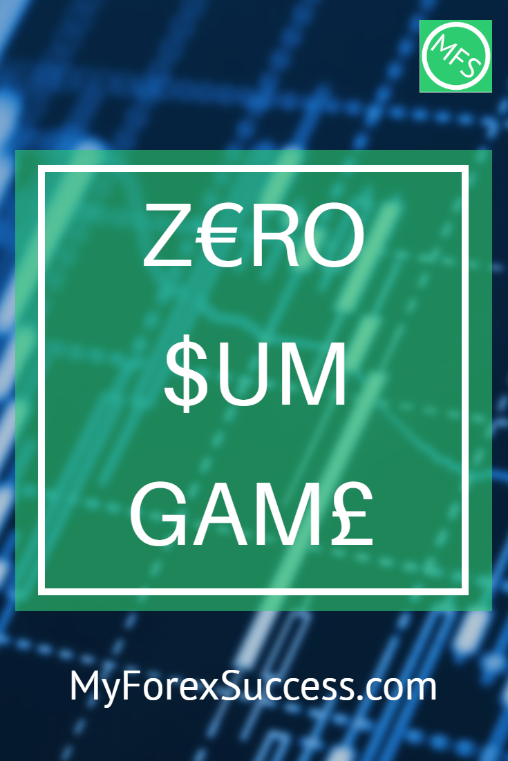 Forex Trading Is A Zero Sum Game Which Means A Trader S Losses