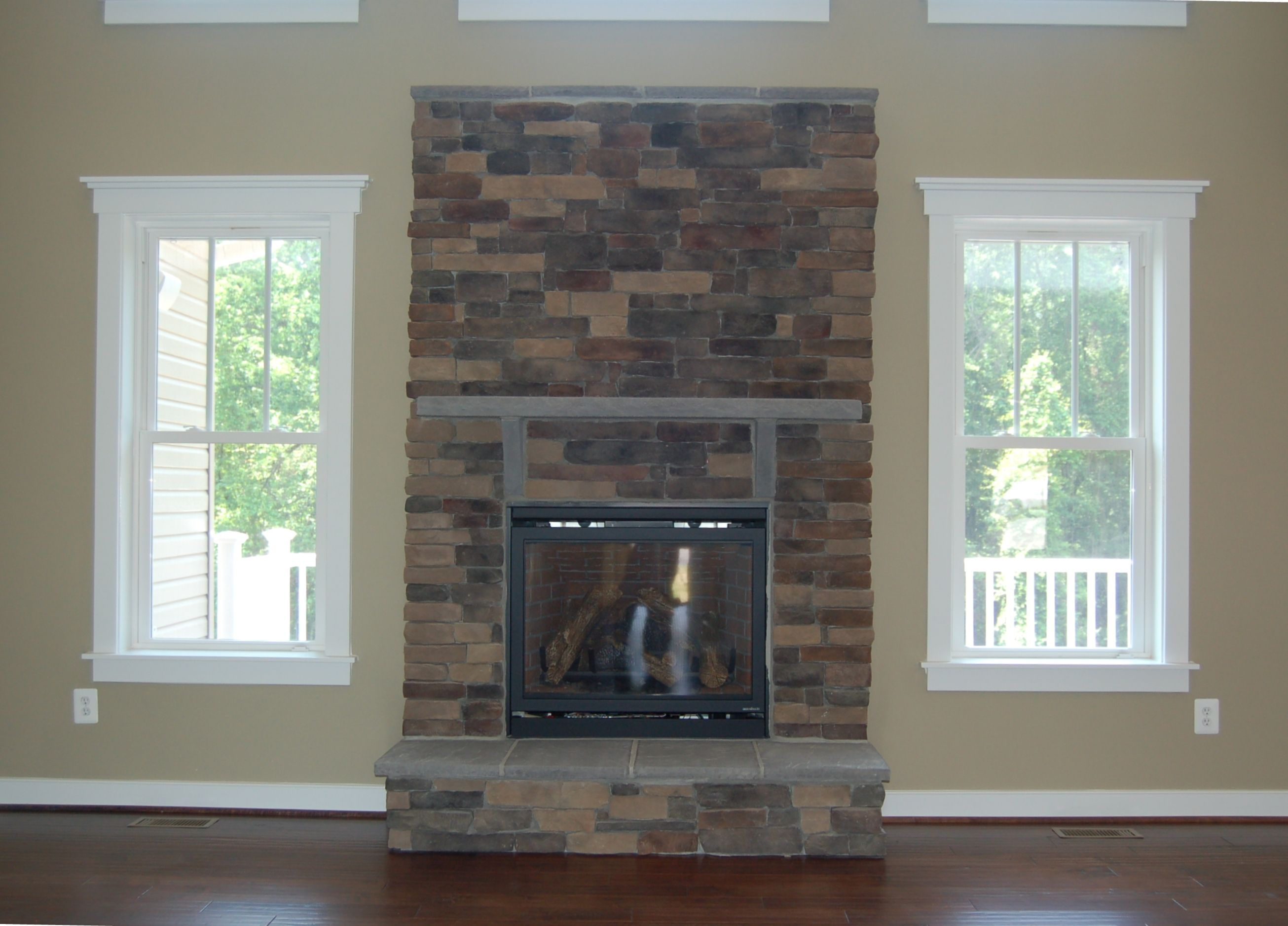 Stone Fireplace With Raised Hearth Custom Home Interiors Pinterest