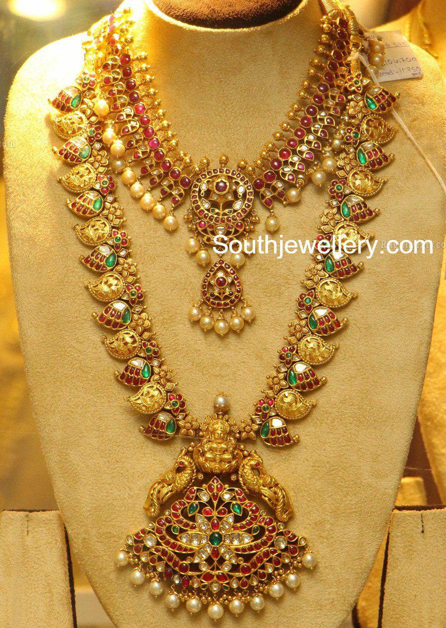 Kundan Necklace And Mango Mala