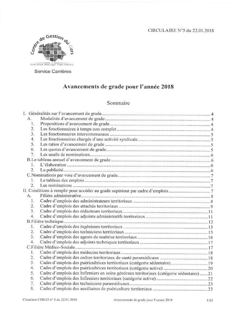 I M Reading Avancements De Grade Fonction Publique Territoriale Cdg