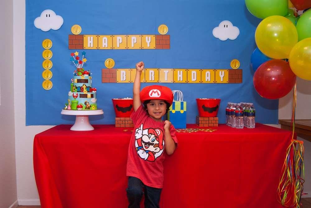 Super Mario Birthday Party Ideas Mario bros Super mario bros and