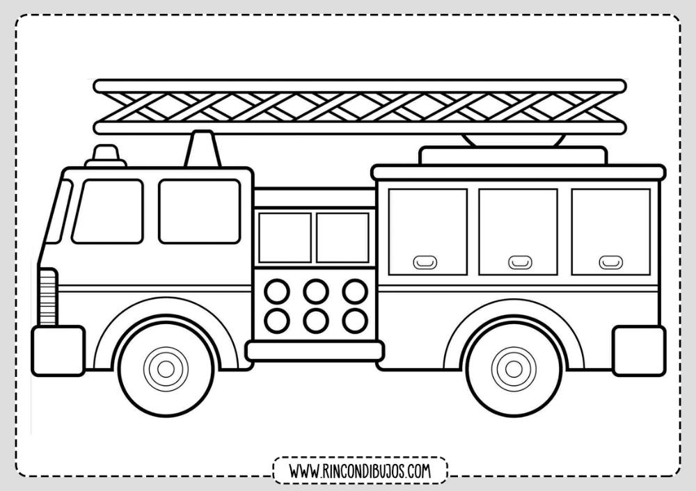 Dibujos De Camion De Bomberos Colorear Rincon Dibujos Camion De Bomberos Carro De Bomberos Camion Dibujo