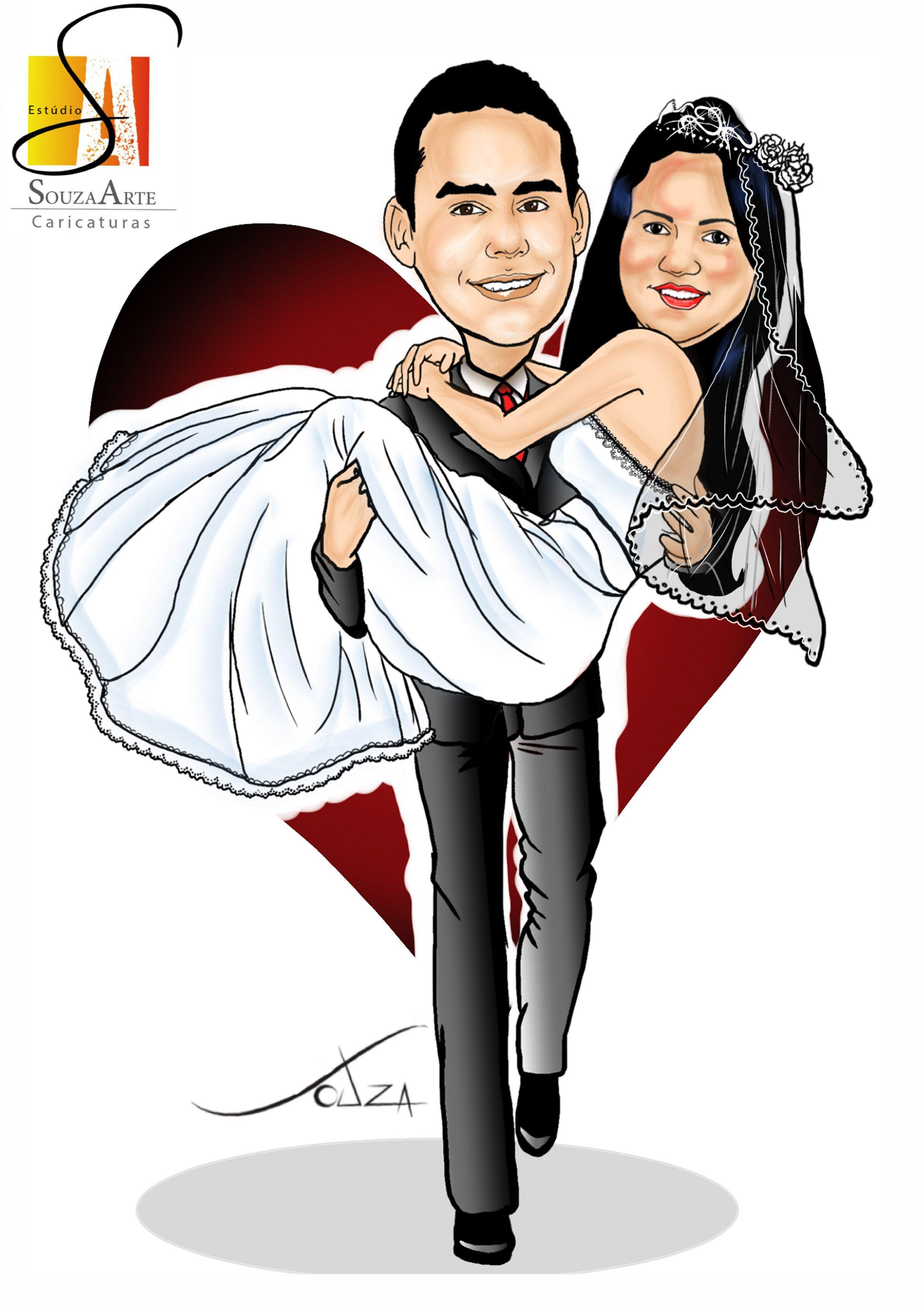 Caricatura de noivos Promoção R$100