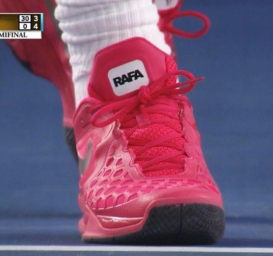 Rafael Nadal wearing pink Nike shoes at Australian Open | Larry .