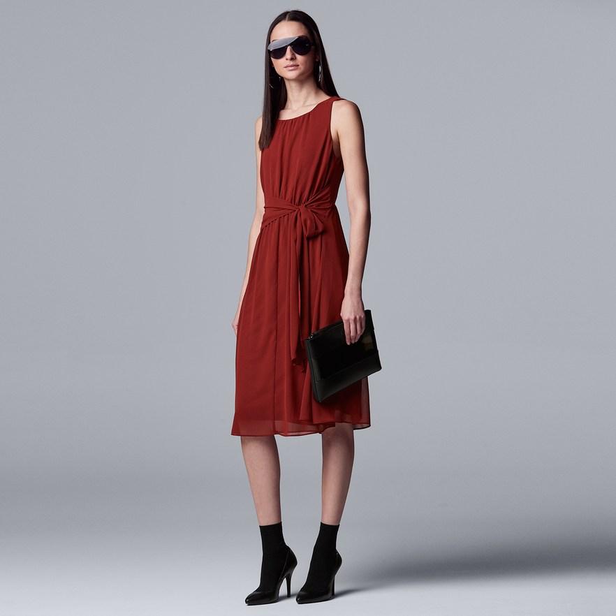 Women's Simply Vera Vera Wang Knot Waist Dress in 2019