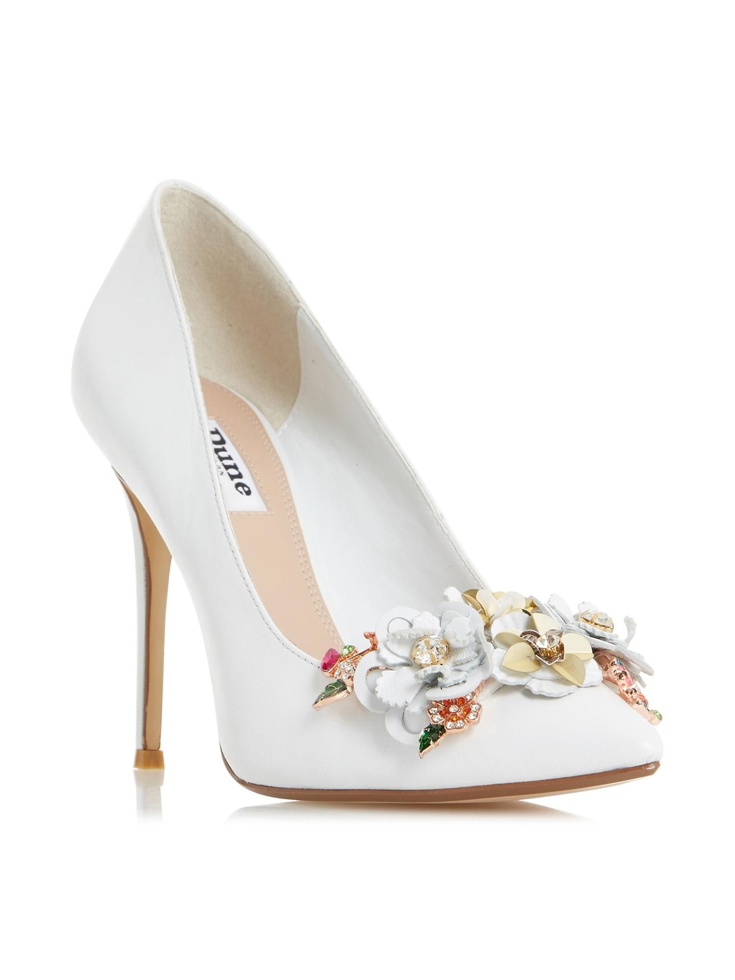 f662080b746 Buy your Dune Azalea Floral Detail Court Shoe online now at House of  Fraser. Why