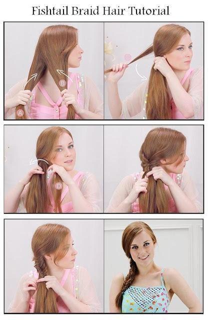 Hair Tips And Ideas Diy Braided Hair Diy Fishtail Braid