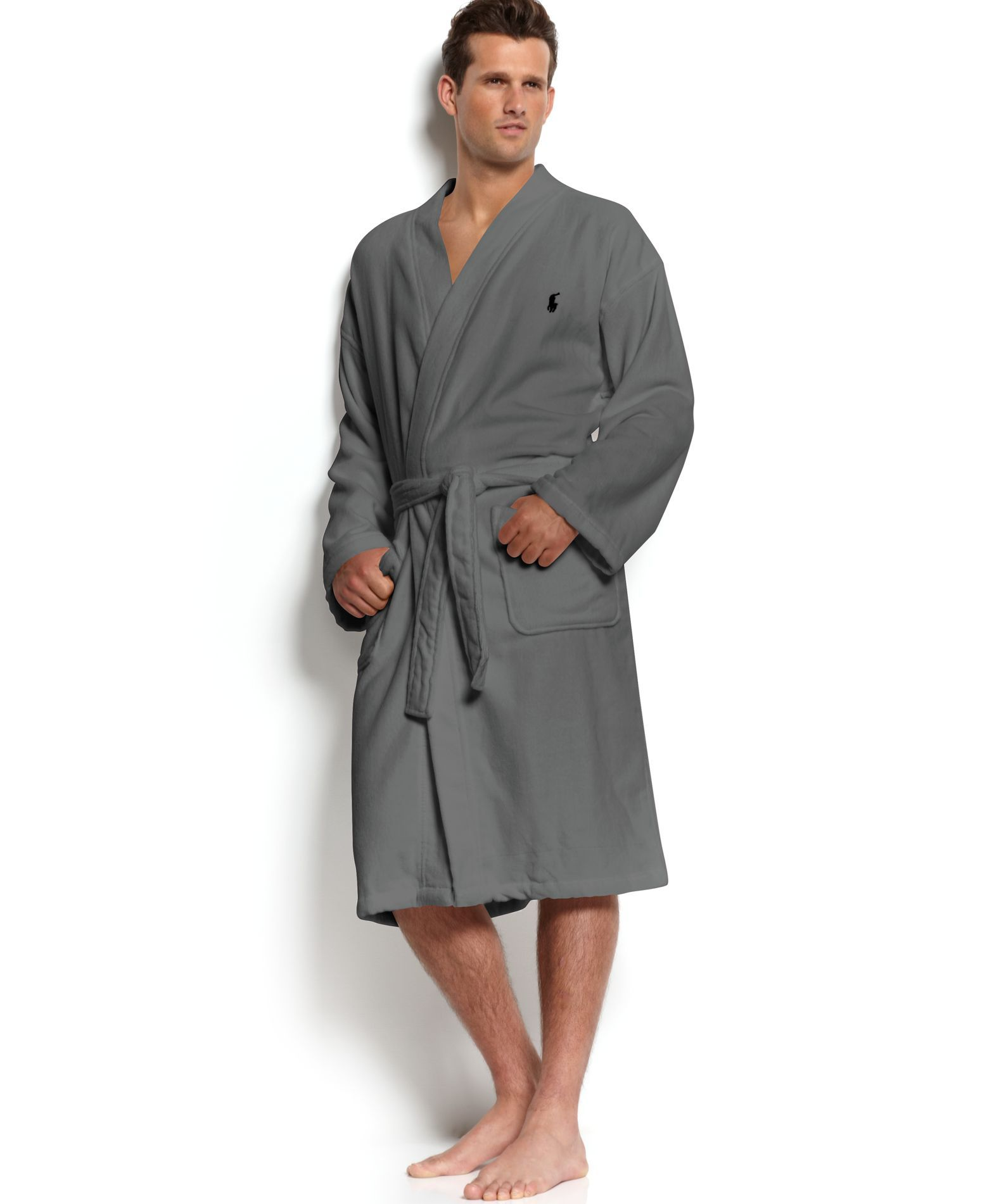 Men s Sleepwear Soft Cotton Kimono Velour Robe  ed94ba2a3