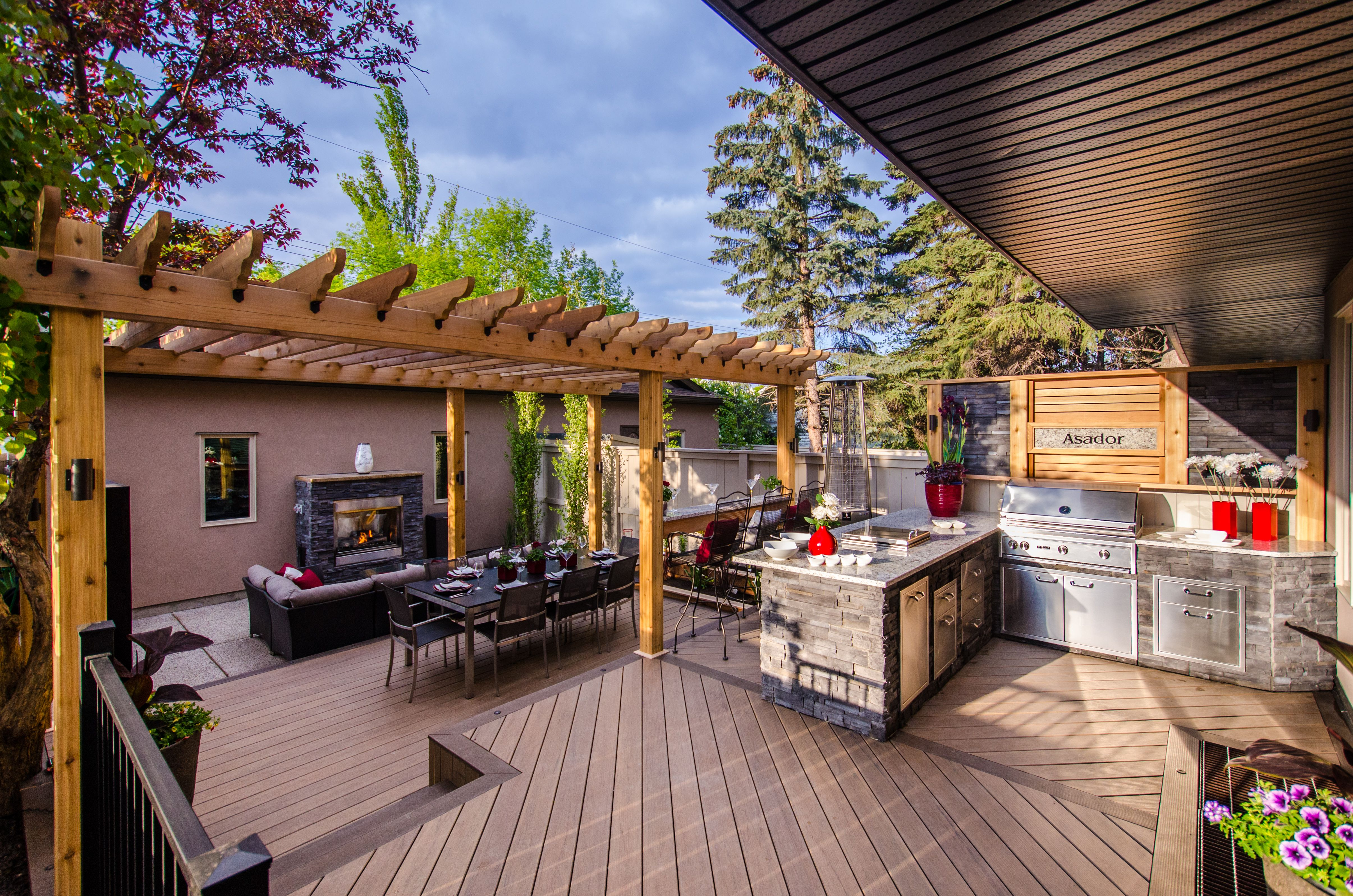 Multi Level Deck With Outdoor Kitchen Diy Outdoor Kitchen Patio Deck