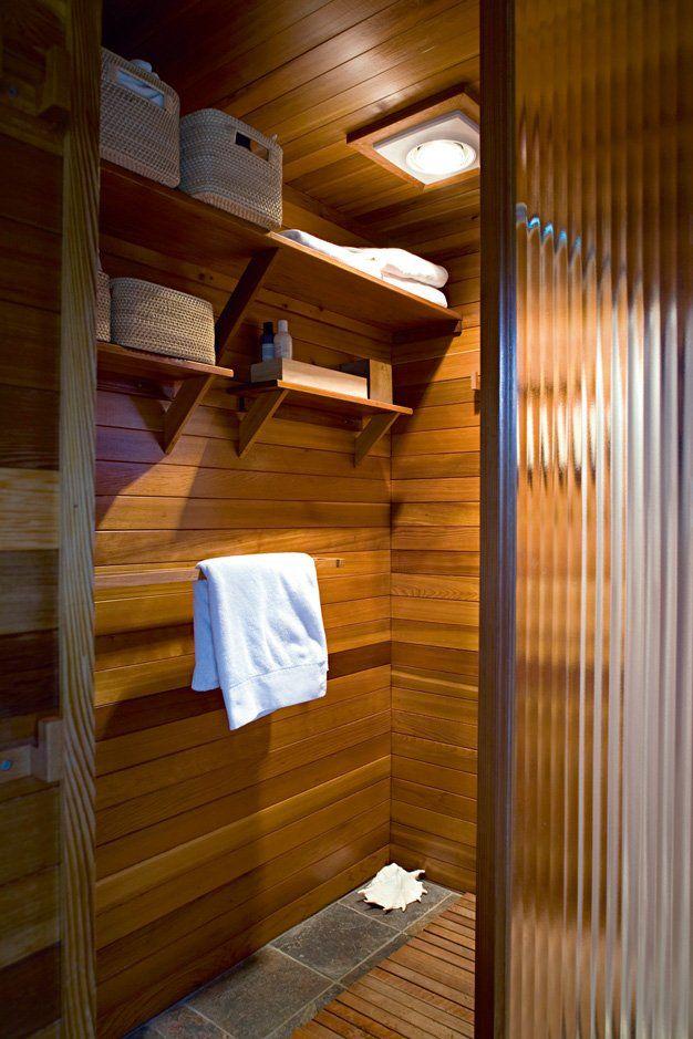 Beautiful Salle De Bain Sauna #4: Une Salle De Bain Moderne En Bois Comme Un Sauna