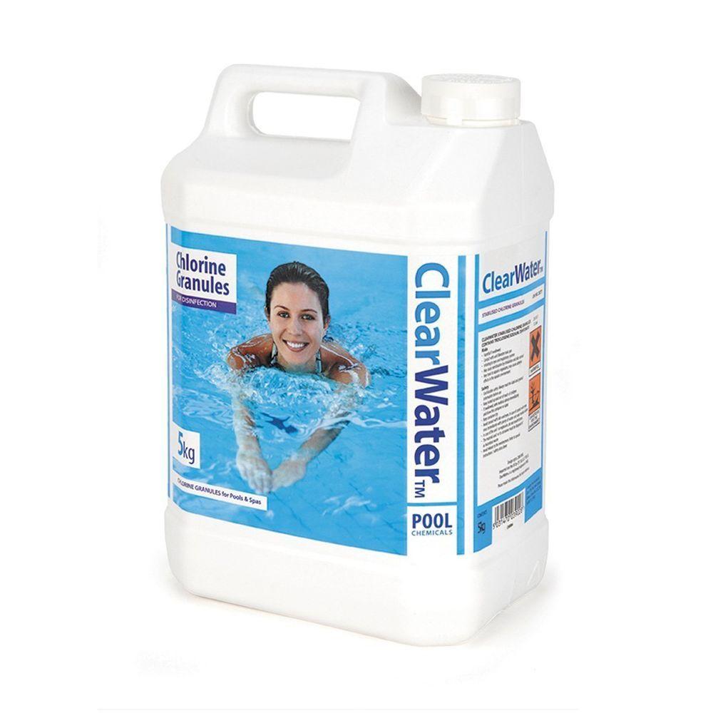 Clearwater pool chemicals 5kg chlorine granules swimming