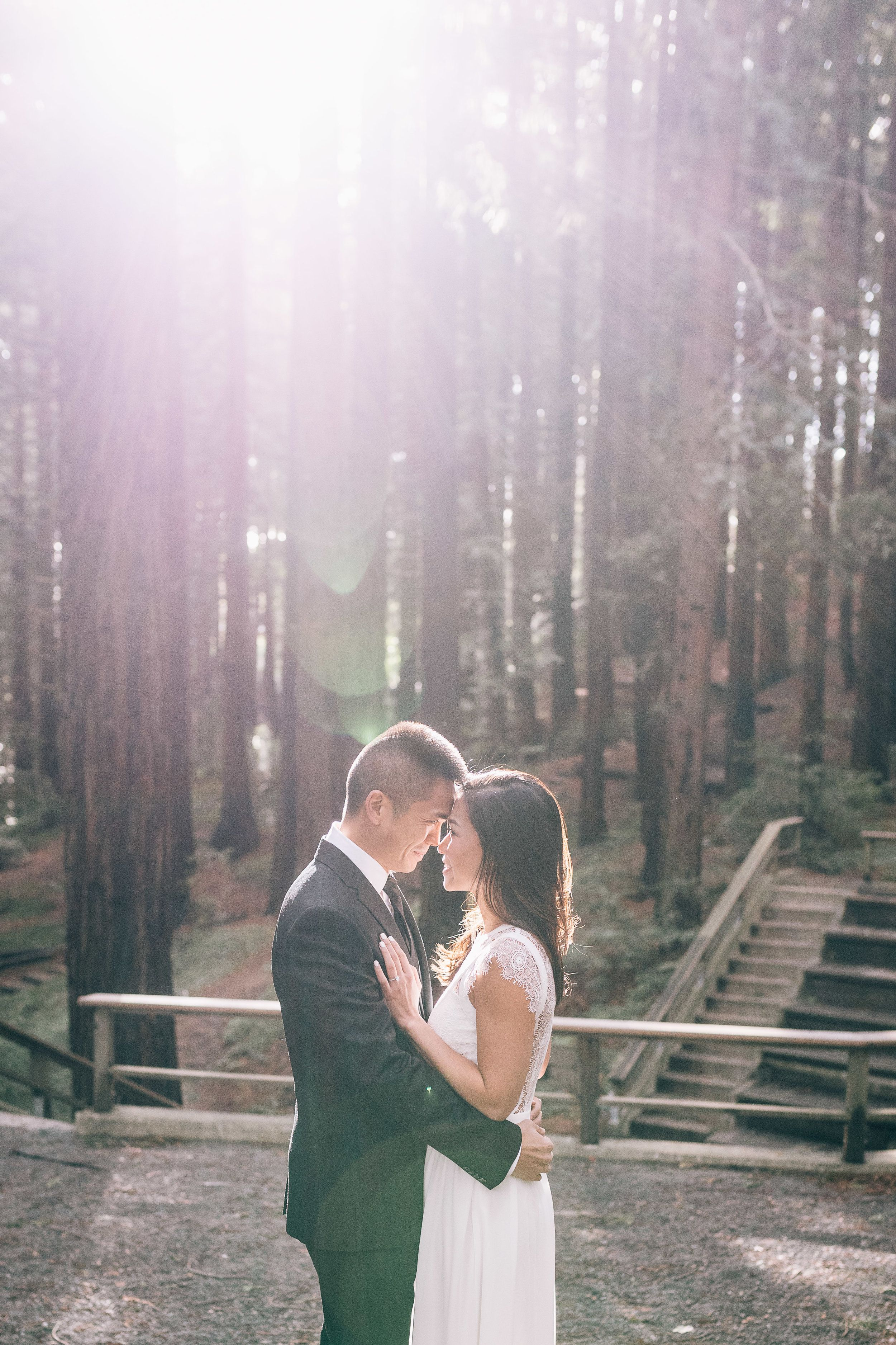 dreamy engagement session at the uc berkeley botanical garden and