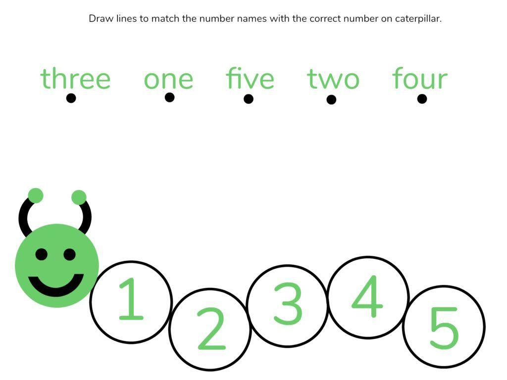 Caterpillar Math Free Printable Preschool Worksheets