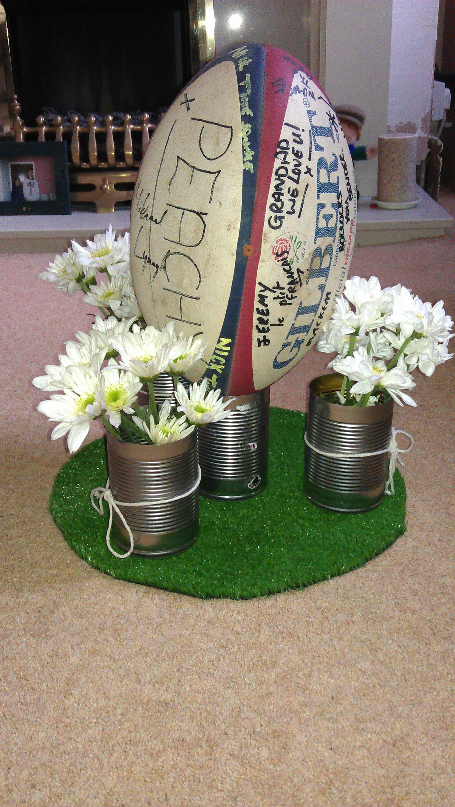 Rugby Ball Vase Table Glass Cut Crystal Ideal Gift Rugby Gift