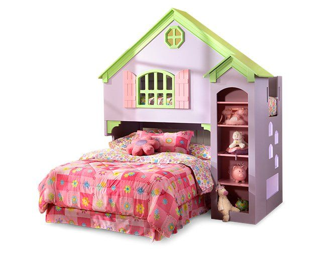 Olivia Dollhouse Bed Furniture Row With Images Bedroom Expressions Doll Bunk Beds Dollhouse Bed