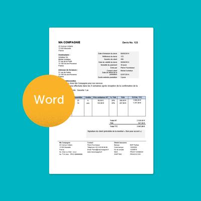 Modele Gratuit De Devis A Telecharger Sous Format Word Modele Facture Modele De Facture Gratuit Exemple Devis