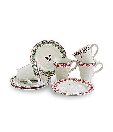 Sophie Conran for Portmeirion Christmas 8Piece Dinnerware Set ...