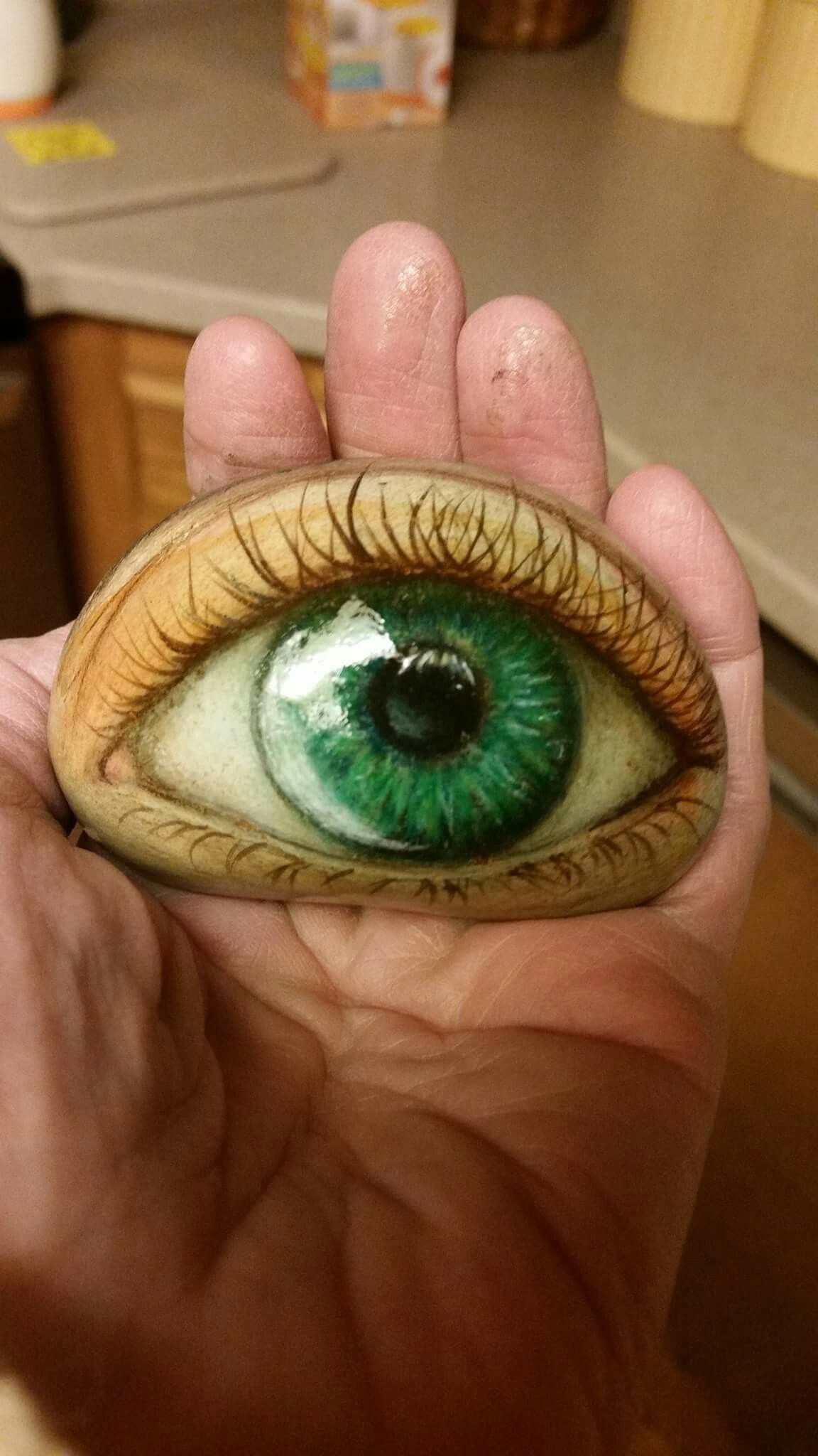 How to Paint Eyes on Rocks
