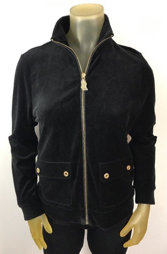 Ralph Lauren Women S Black Gold Velour Jacket Coat Nwt Sz Pm Petite M 8 10 Velour Jackets Jackets Ralph Lauren Women