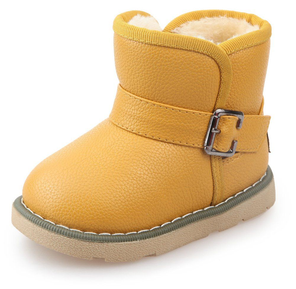 a21eb0dba4abb6 Ausom Kids Warm Fur Lined Girls Boys Outdoor Snow Boots Ankle Winter Shoes  (Toddler
