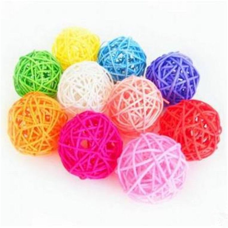 Decorative Rattan Balls 5Pcs 5Cm Rattan Wicker Cane Ball For Decorationwedding