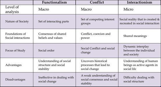 Functionalism Conflict And Interactionism Perspectives By 6