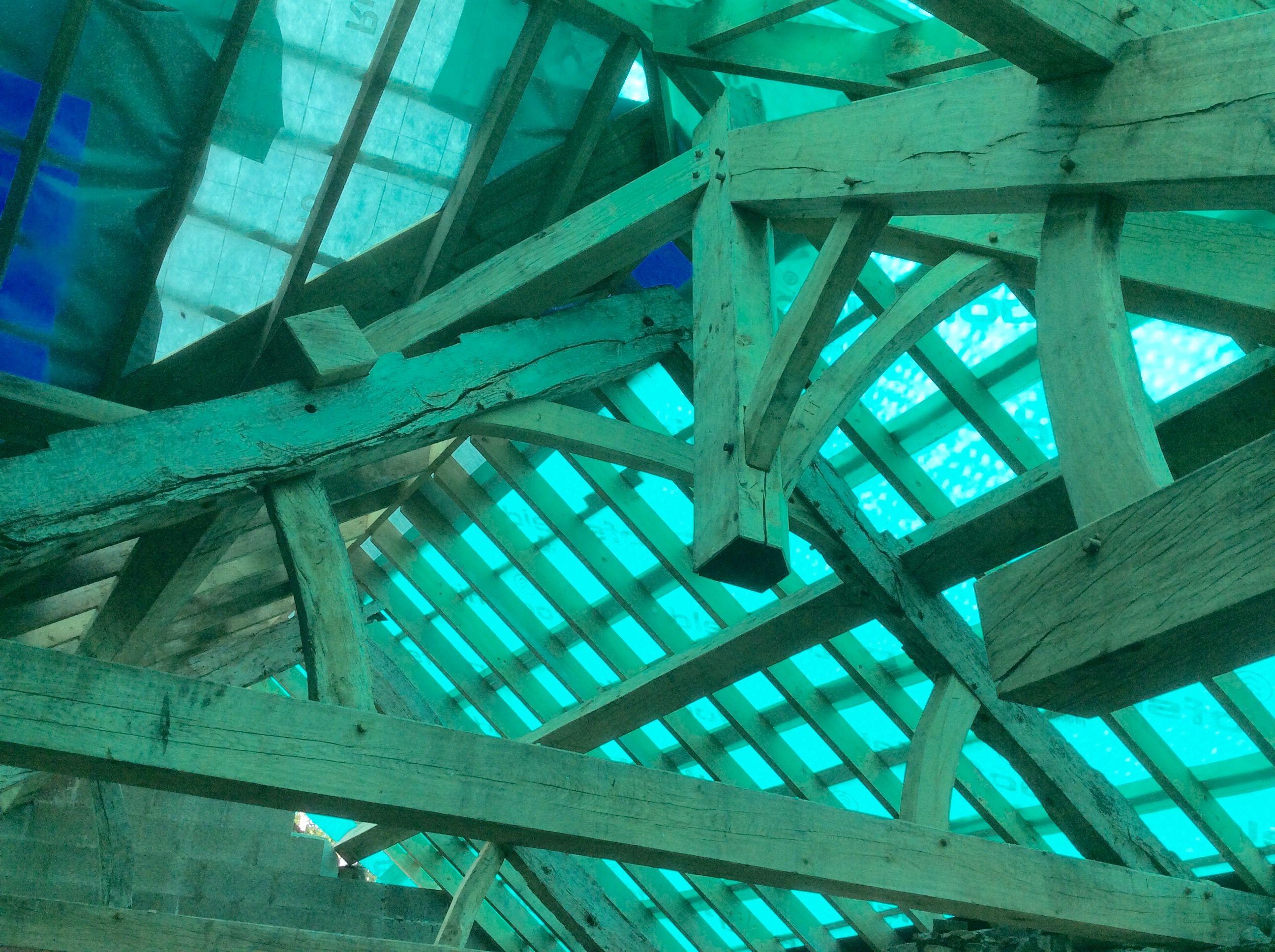 Green Oak And Recycled Oak Roof
