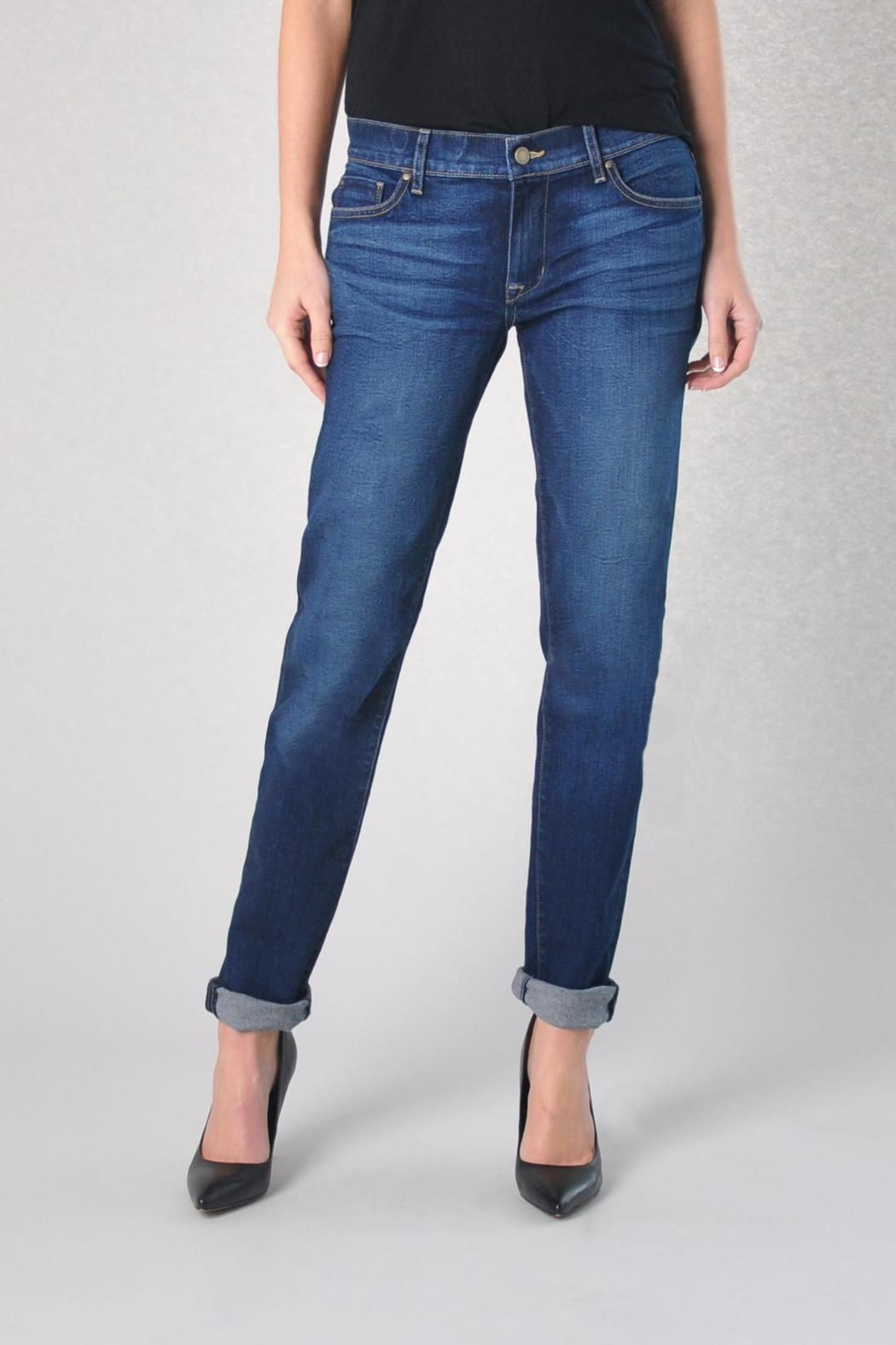 "The Axl relaxed skinny is Fidelity's twist on the traditional boyfriend jean. It is a low rise relaxed skinny that is fitted throughout the leg but slightly looser on the waist and hips.      Measures: 8.5 rise, 13"" sweep, 28"" rolled.   Relaxed Skinny Boyfriend Jeans by Fidelity Denim. Clothing - Bottoms - Jeans & Denim - Boyfriend Clothing - Bottoms - Jeans & Denim - Slim Clothing - Bottoms Canada"