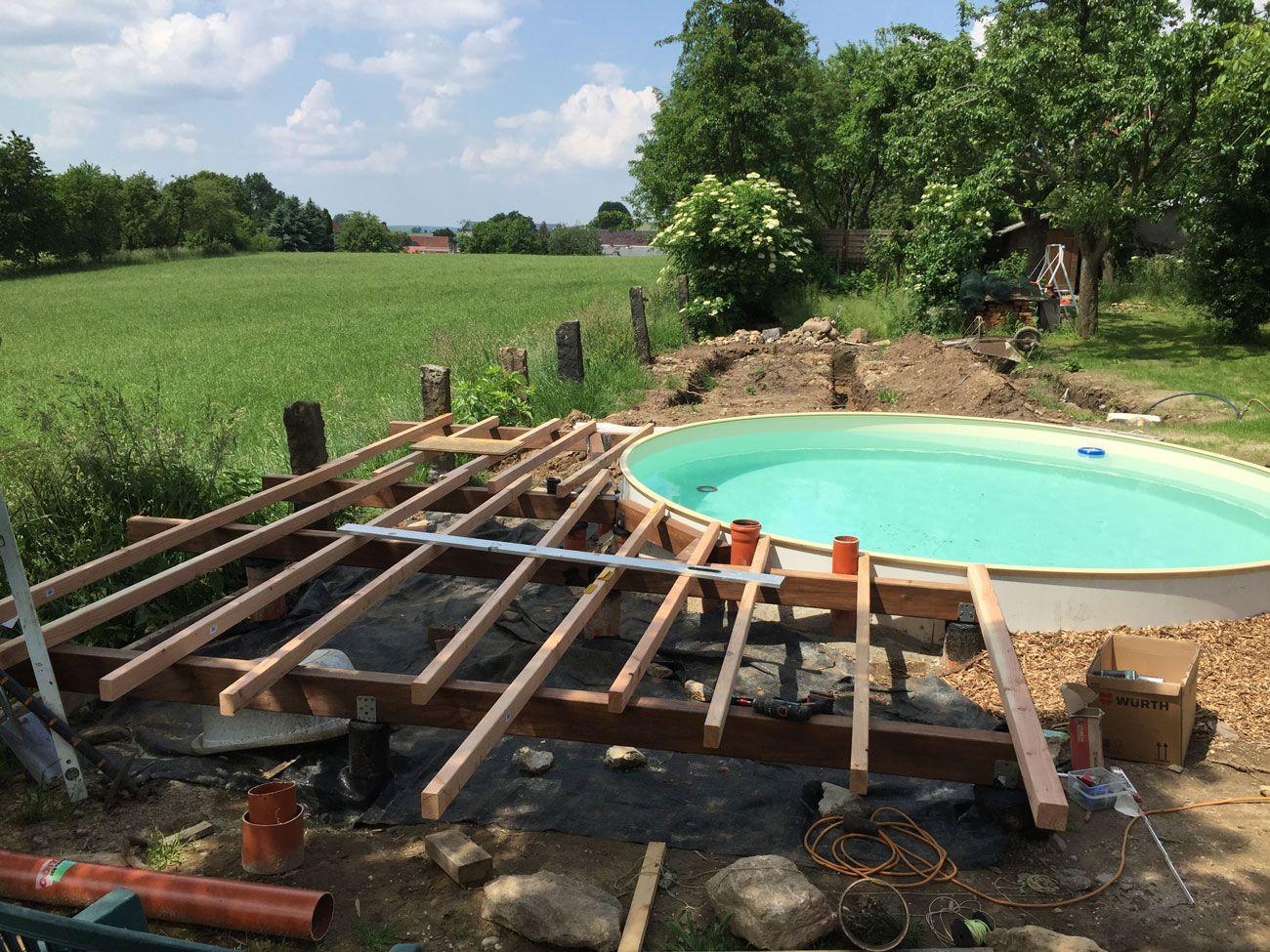 unterbauholzterrassepoolhalbrund Pool selber bauen