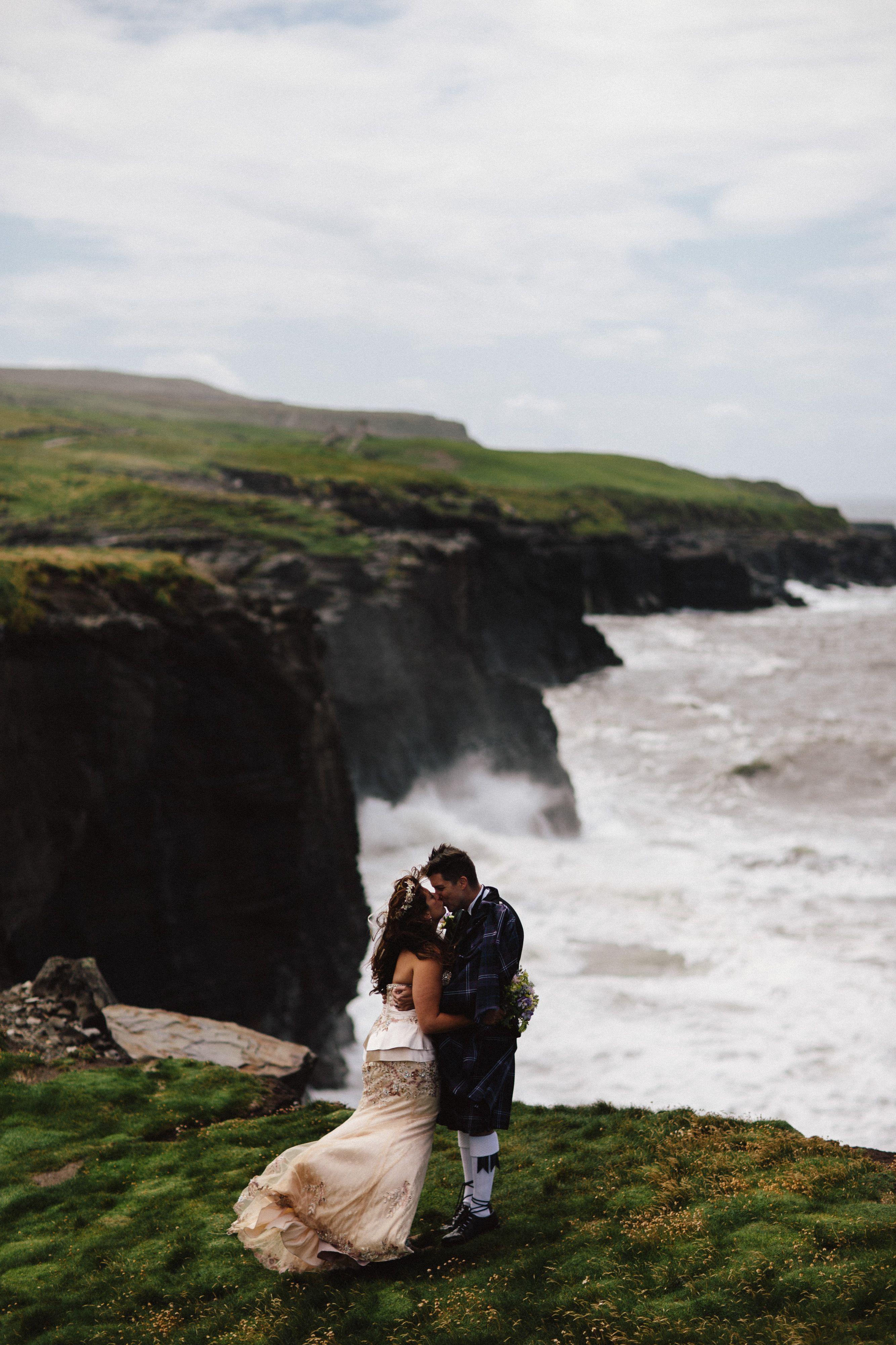 interesting wedding venues ireland%0A Cliff side wedding Elope to Ireland