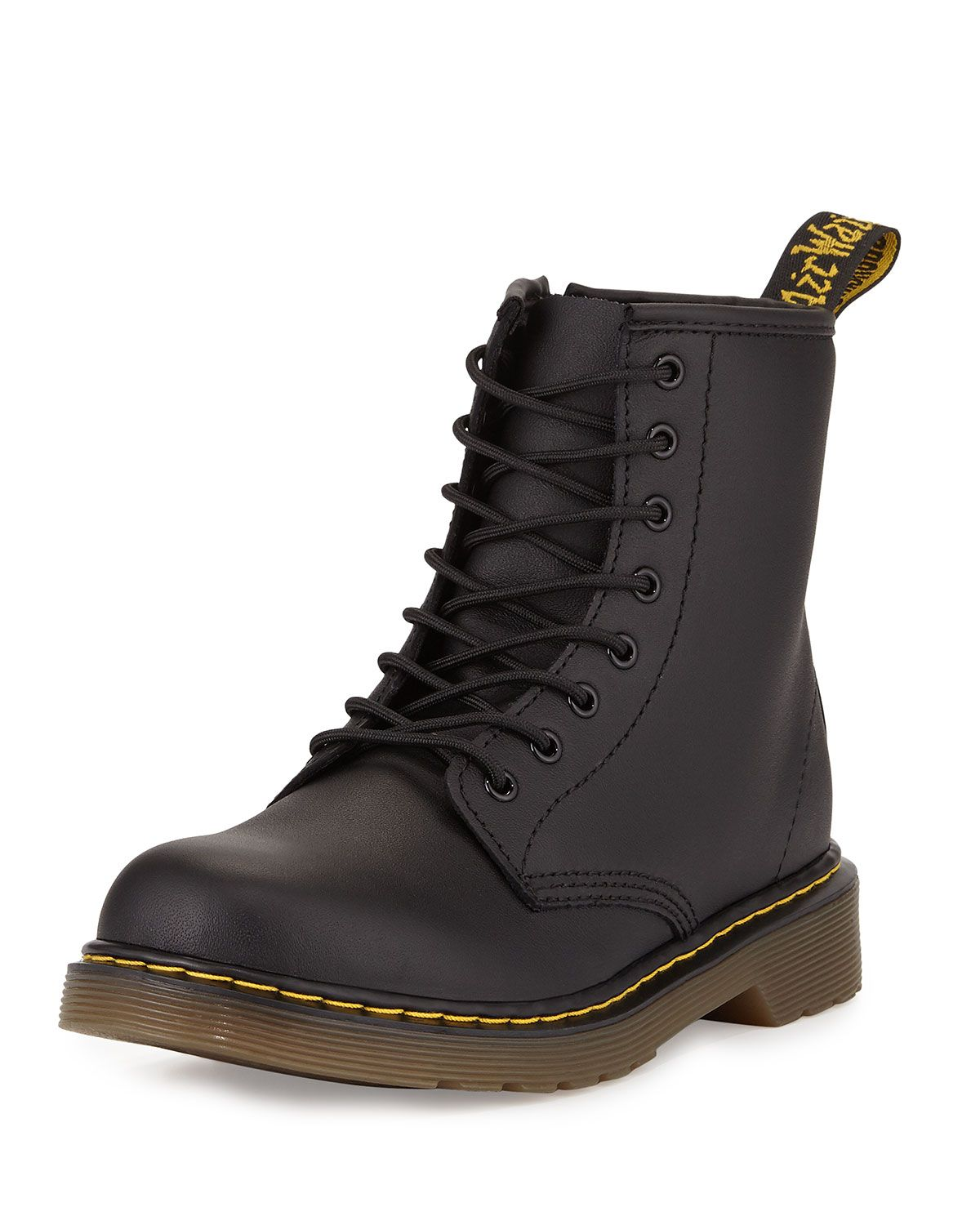 Dr Martens Delaney Matte Leather Military Boot Black