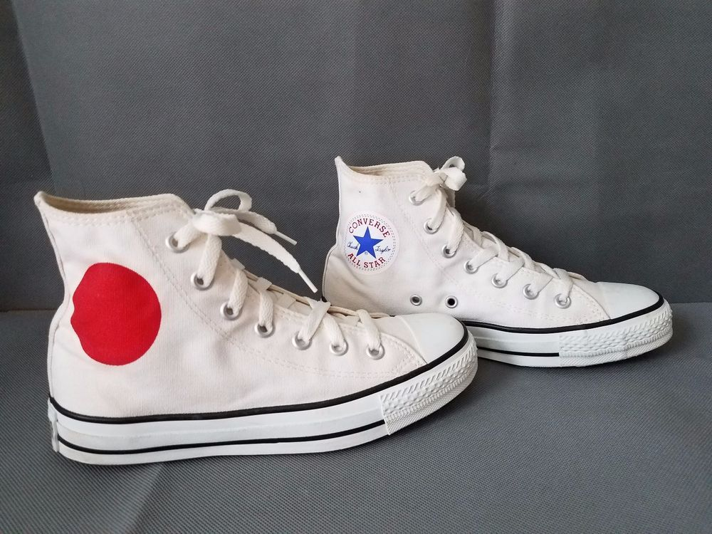 0bf84c1572cd CONVERSE CANVAS ALL STAR HIGH TOP WHITE  MADE IN JAPAN   ConverseALLSTAR   AthleticSneakers. Find this Pin and more on Brand name shoes ...